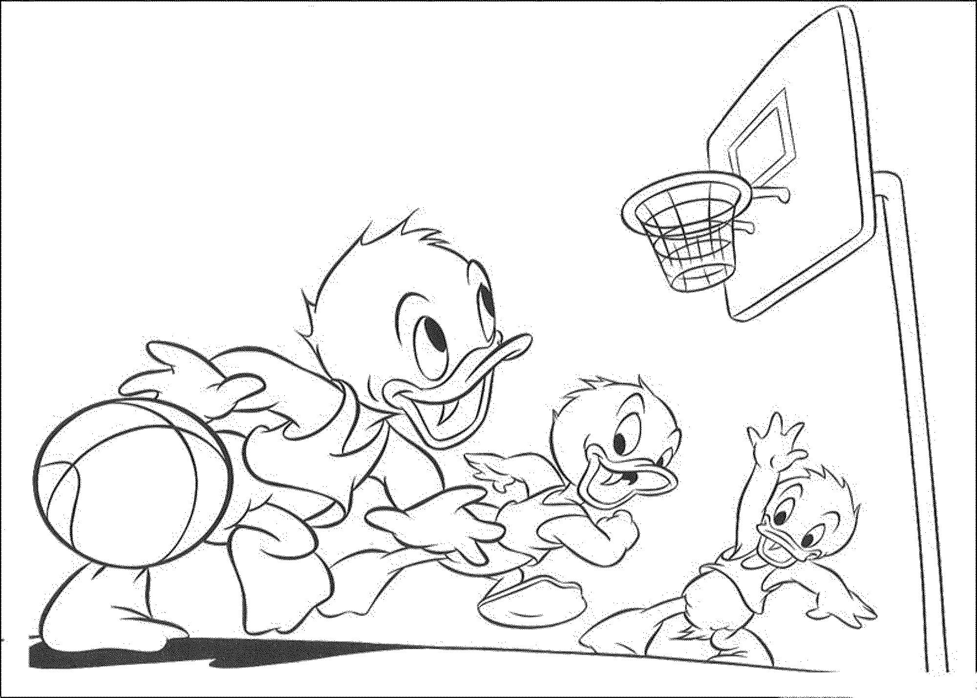 basketball-colouring-pages-printable-donald-duck