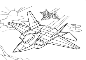 airplanes-coloring-pages