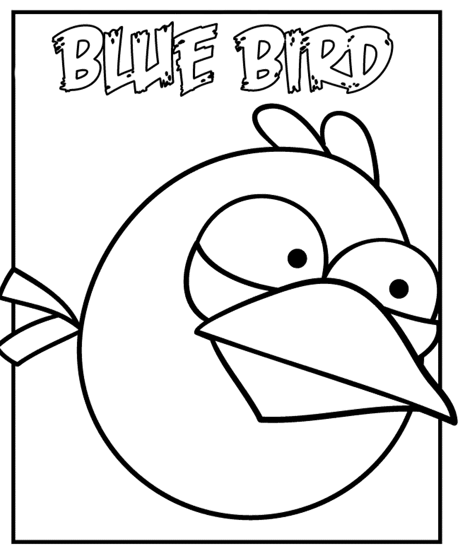 Angry birds coloring pages for your small kids for Blue angry bird coloring page