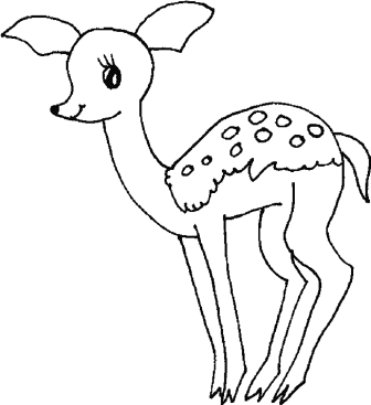 baby-deer-coloring-pages