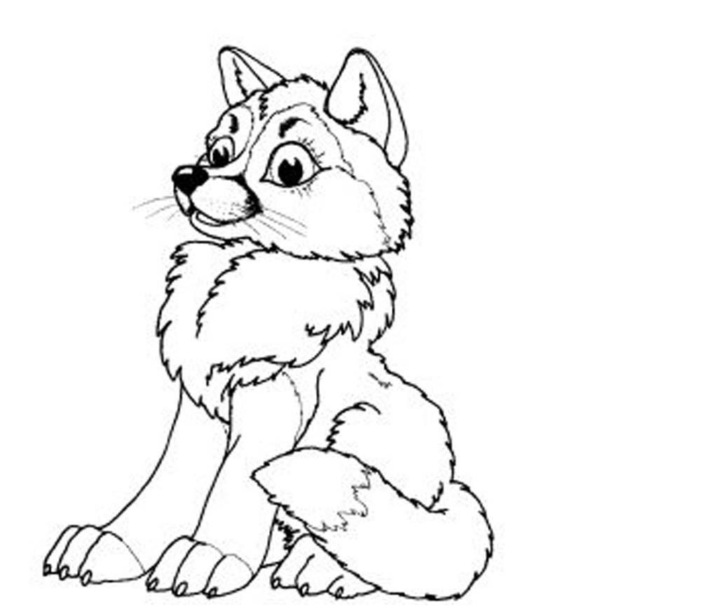 Print & Download   Wolf Coloring Pages Theme