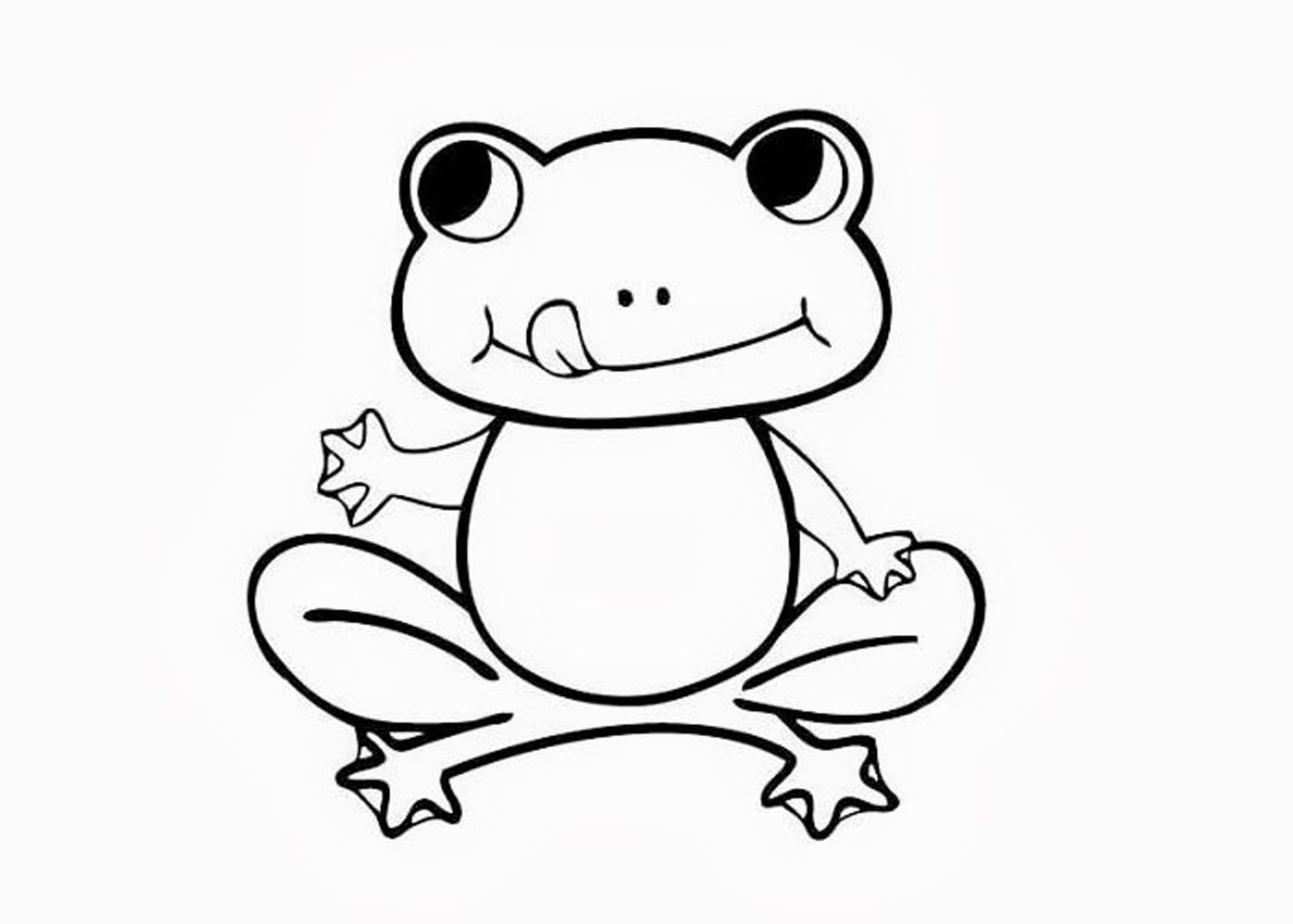 print download frog coloring pages theme for kids