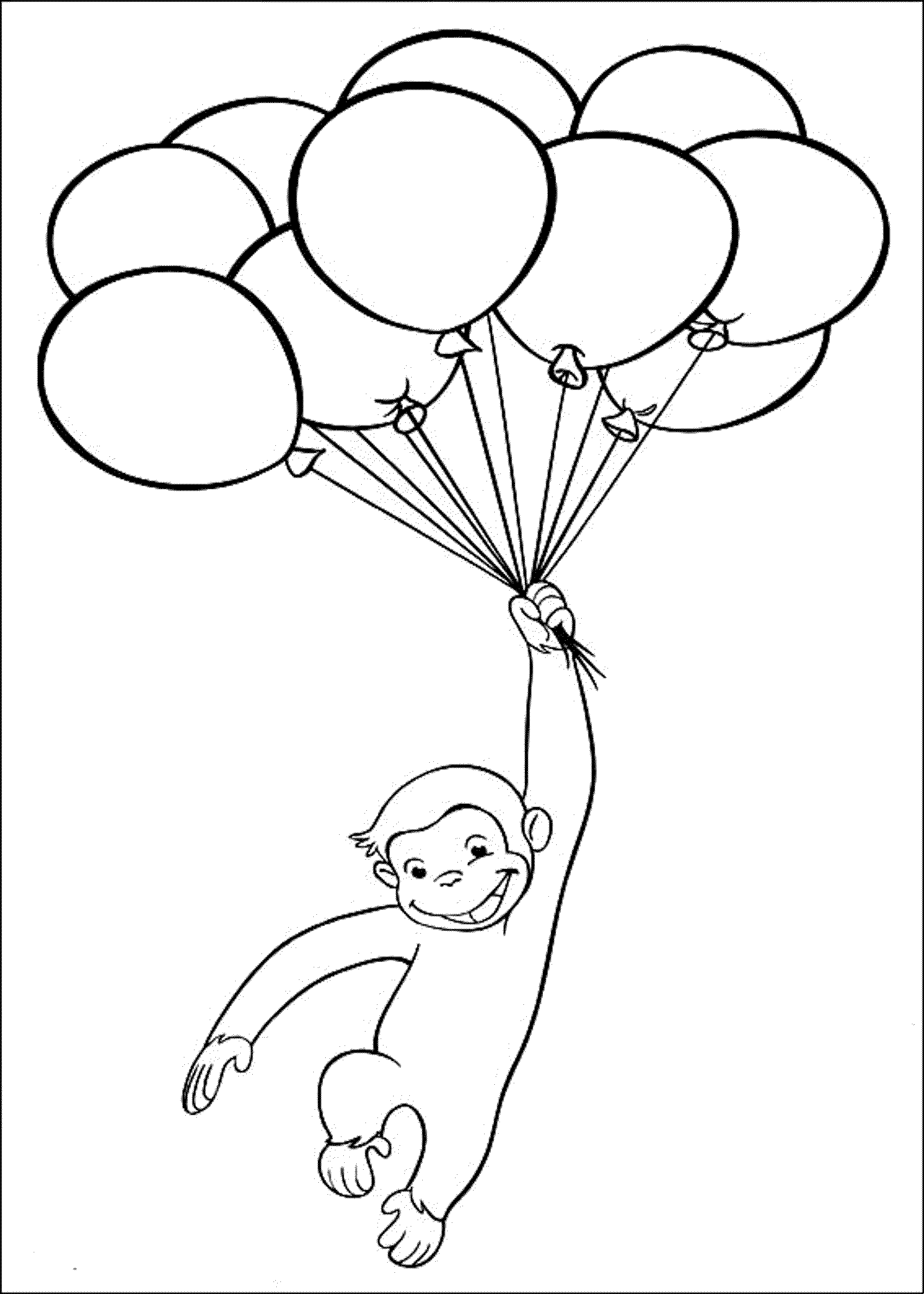 curious-george-playing-baloon-coloring-pages
