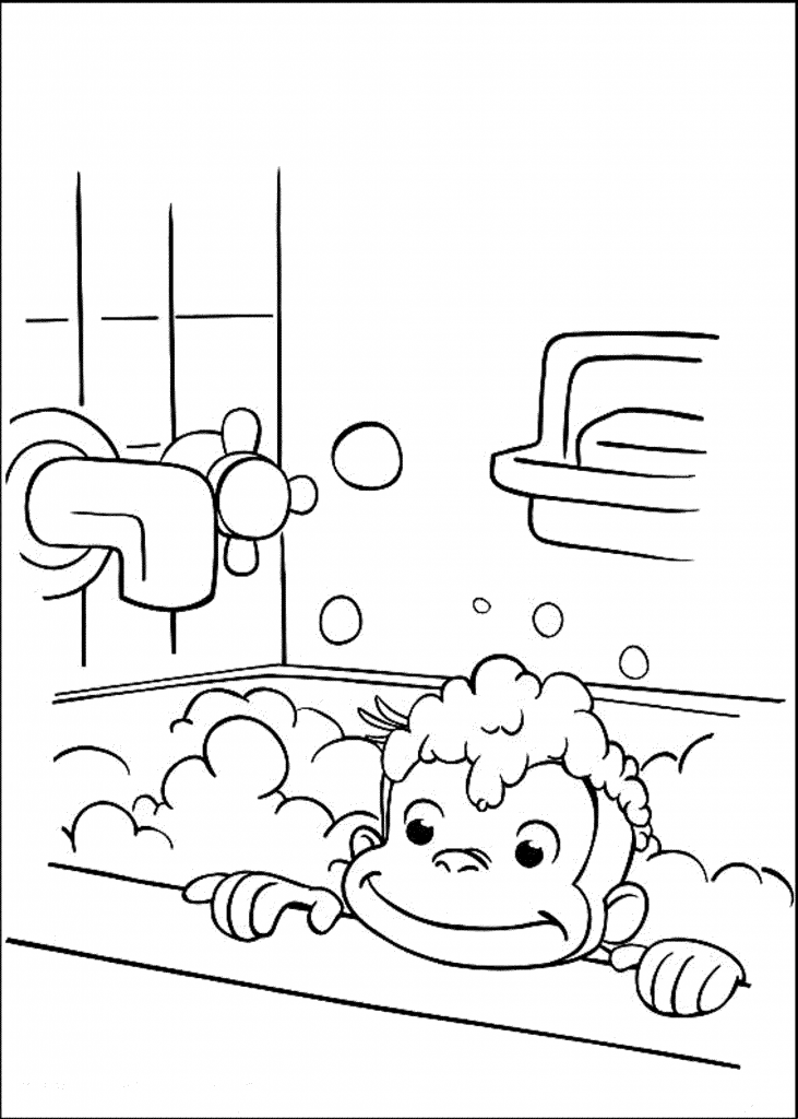 curious-george-take-a-bath-coloring-pages