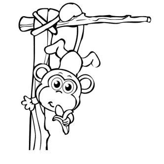cute-baby-monkey-coloring-pages