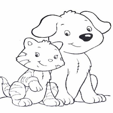 dog-and-cat-coloring-pages