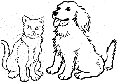 dog-cat-coloring-pages