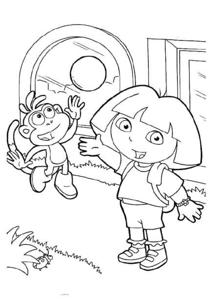 dora-the-explorer-coloring-pages