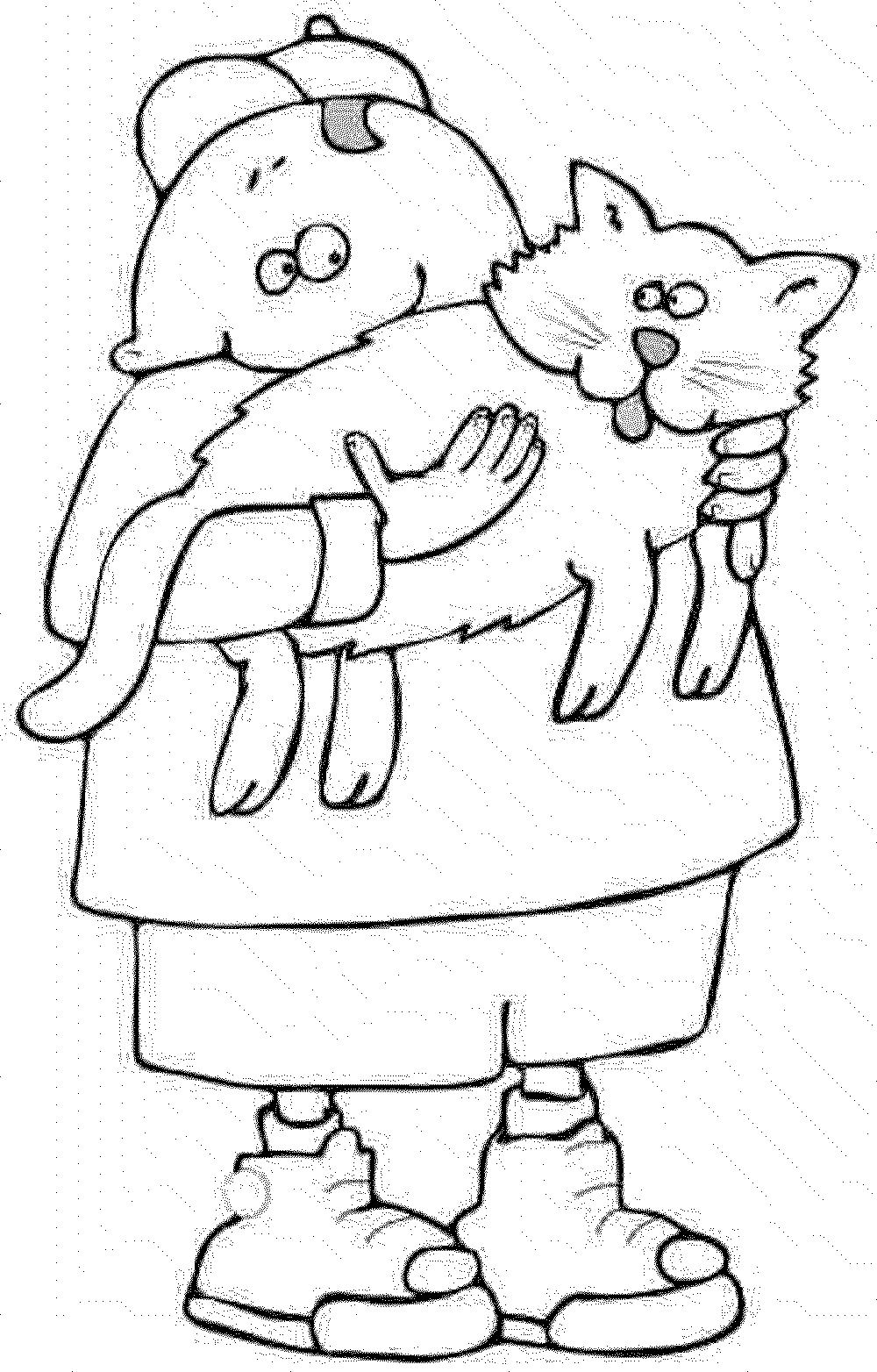 Print Download The Benefit Of Cat Coloring Pages Halloween