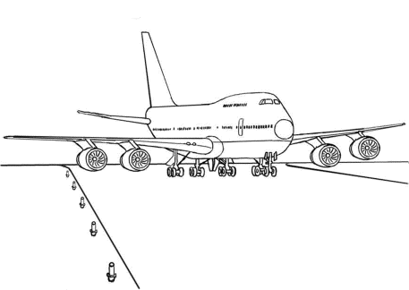 landing-of-airplane-coloring-pages