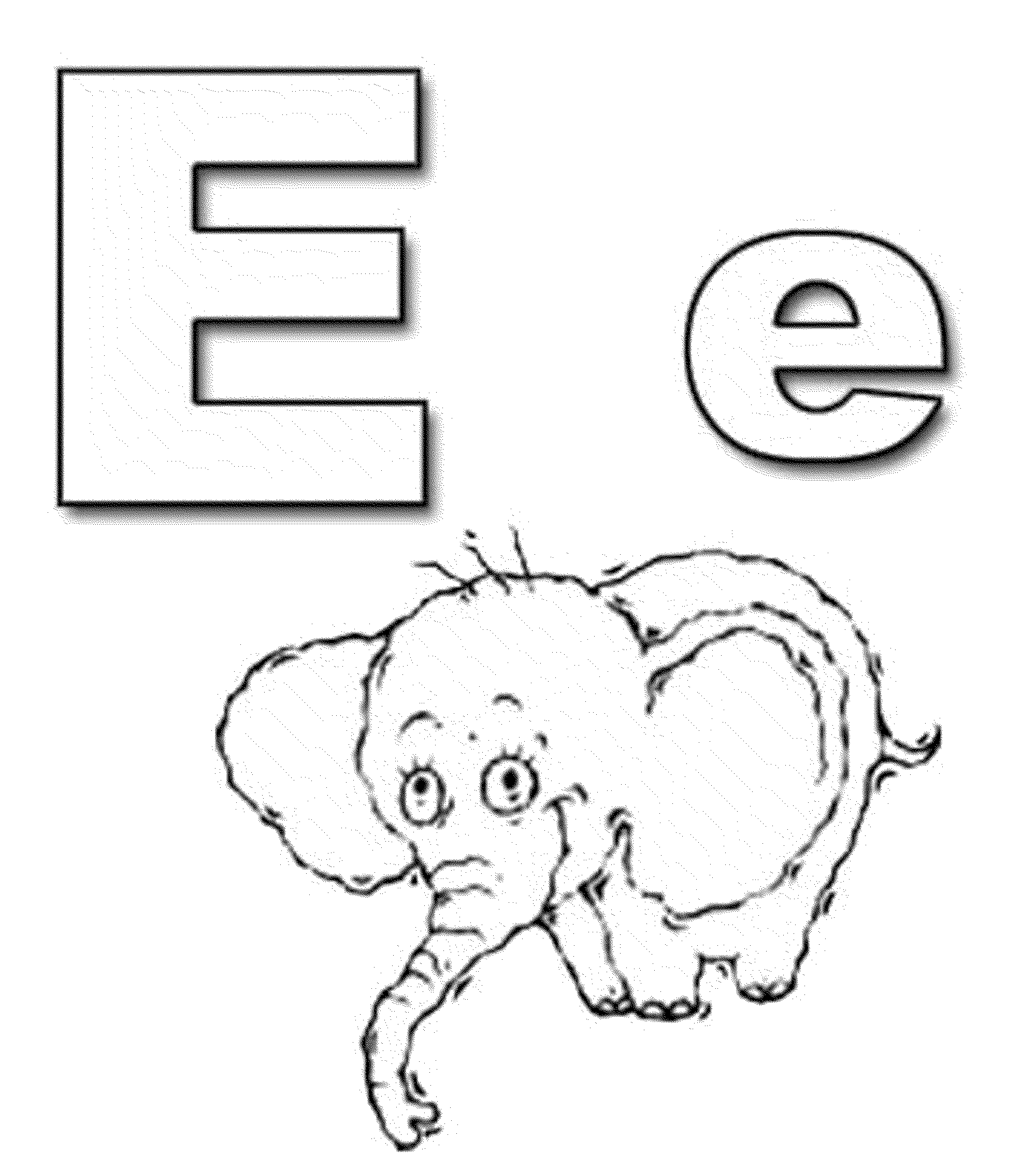 Letter E Elephant Coloring Pages Coloring Page
