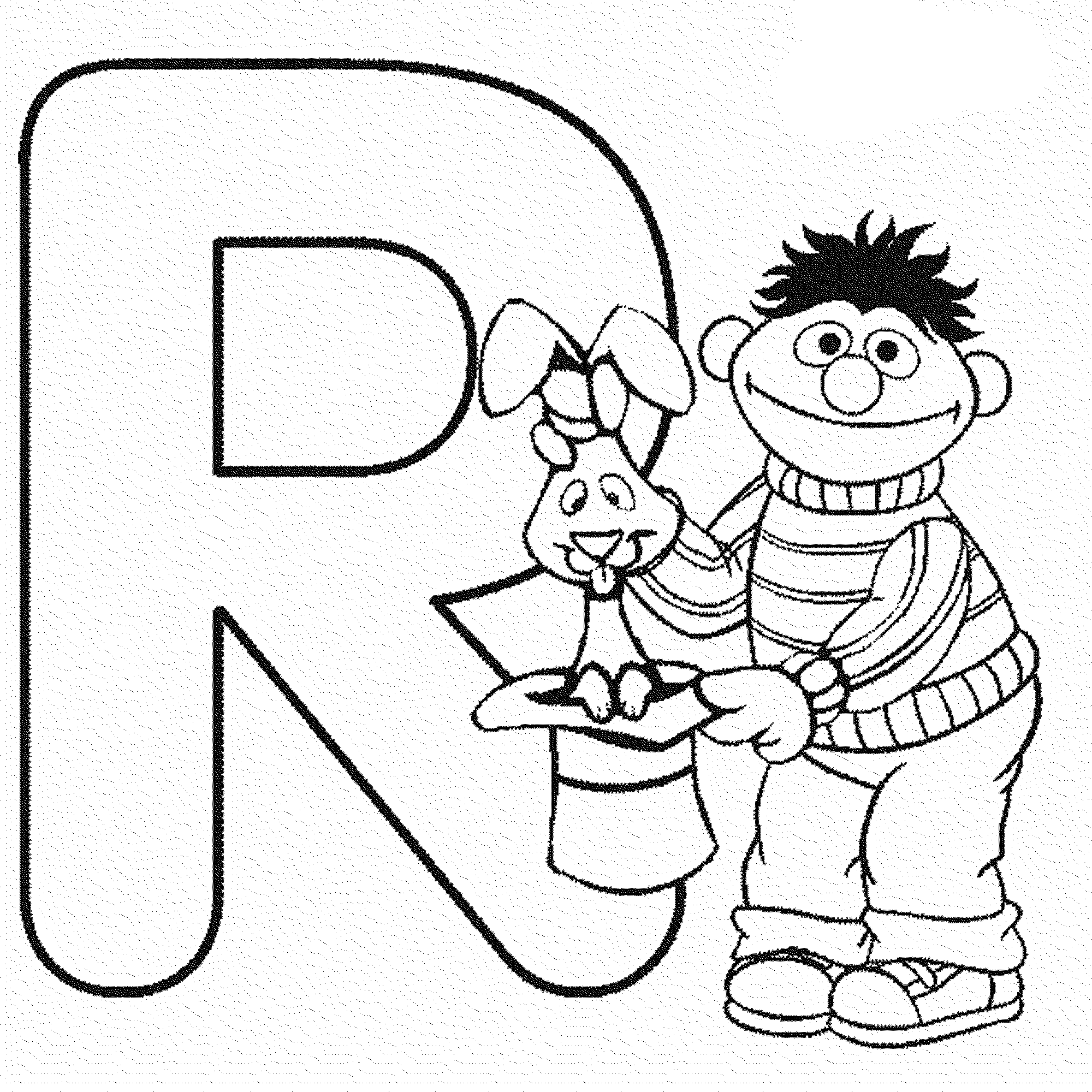 Letter R Sesame Street Coloring Pages Alphabet
