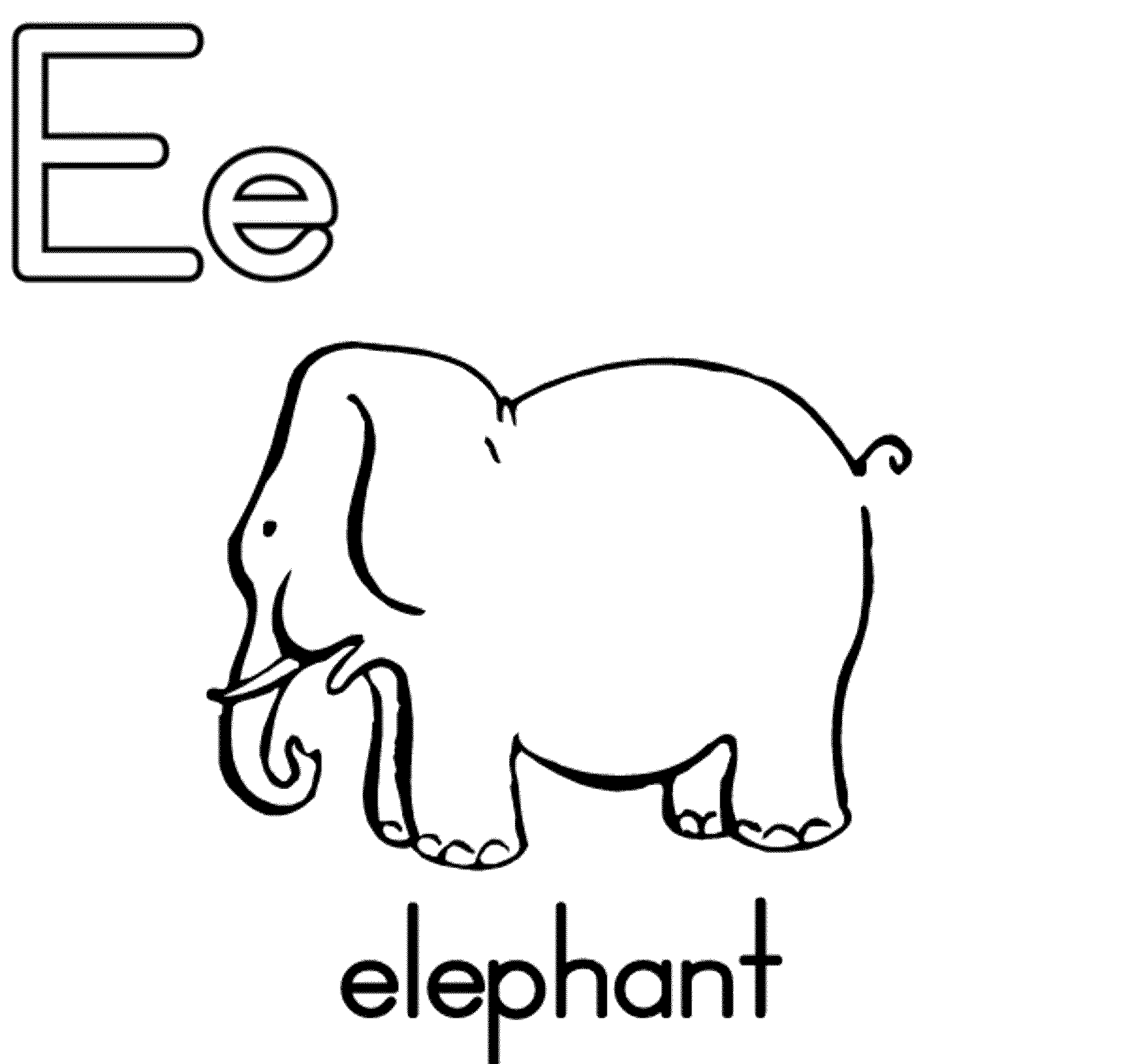 Letter e coloring pages alphabet