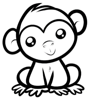 monkeys-coloring-pages