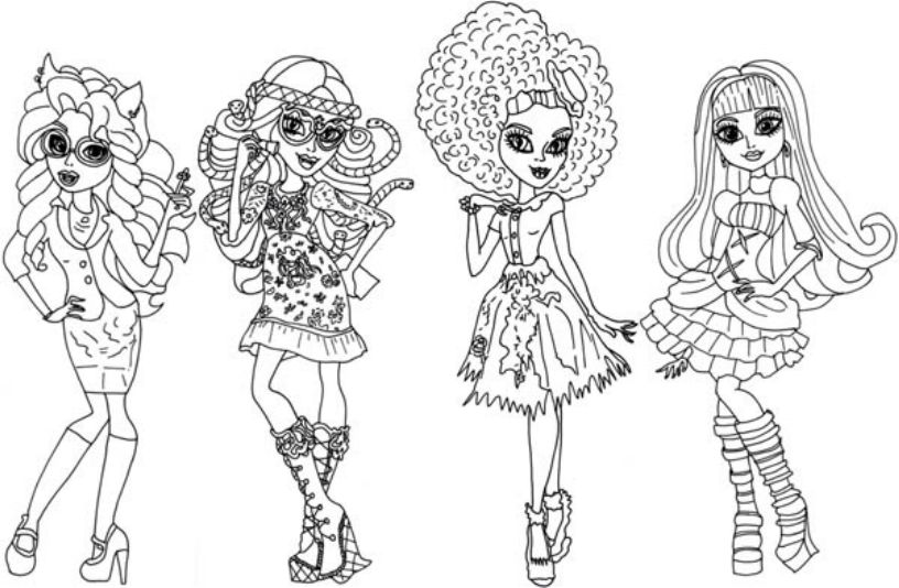 Monster High Coloring Pages Sweet