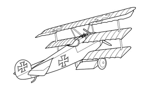 old-airplane-coloring-pages