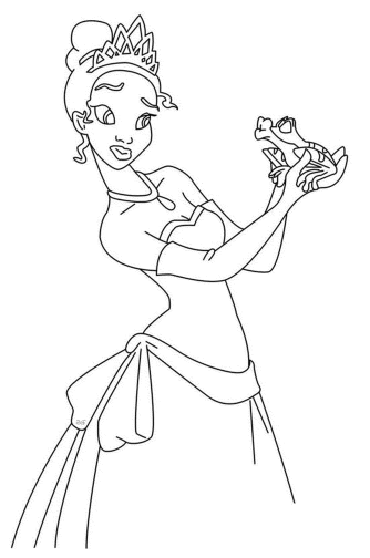 princess-and-the-frog-coloring-pages