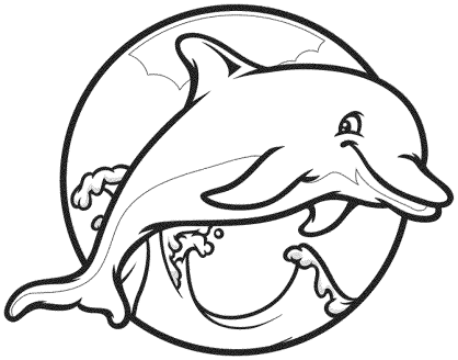 small-dolphin-coloring-pages