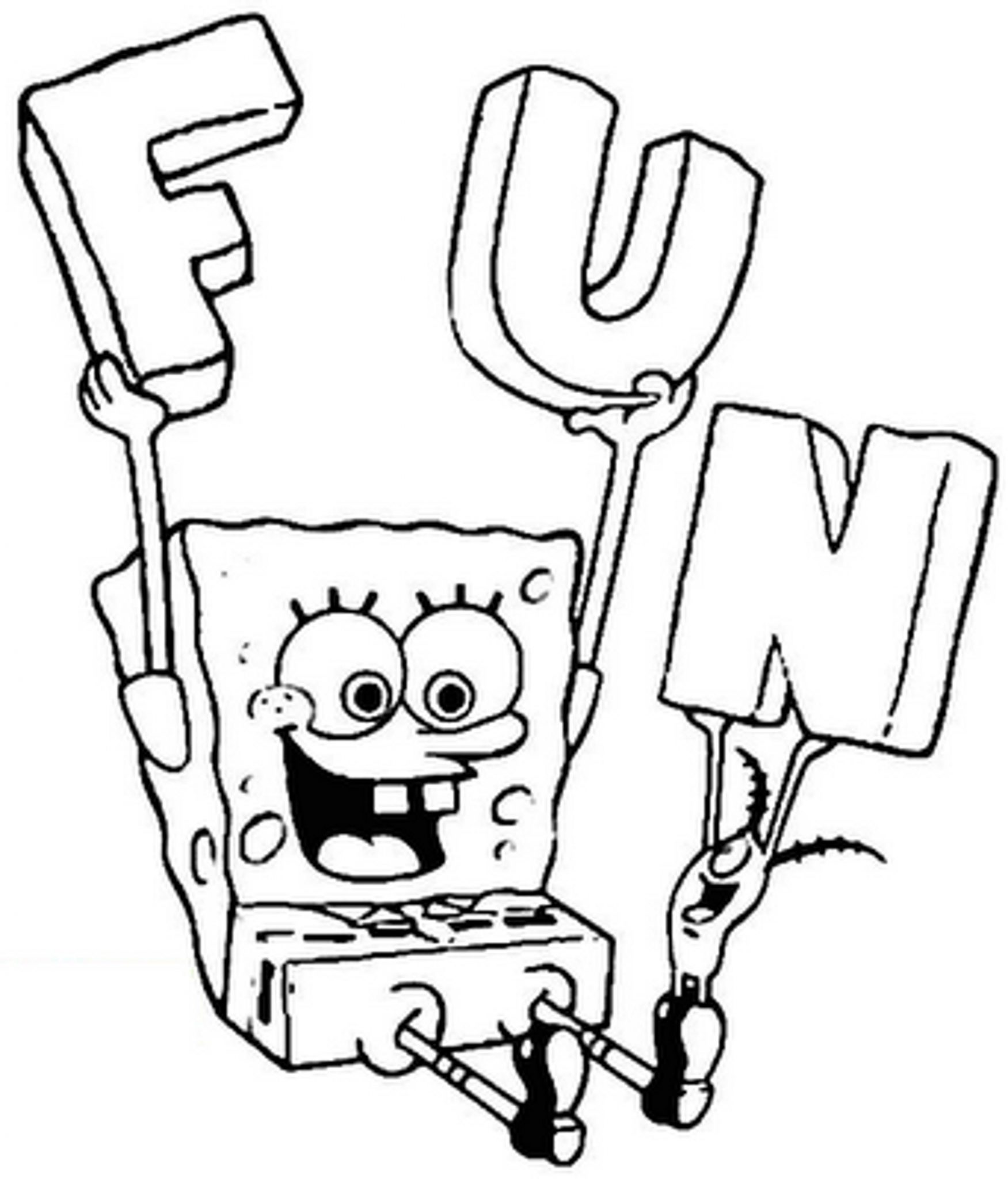 Spongebob Coloring Pages Printable
