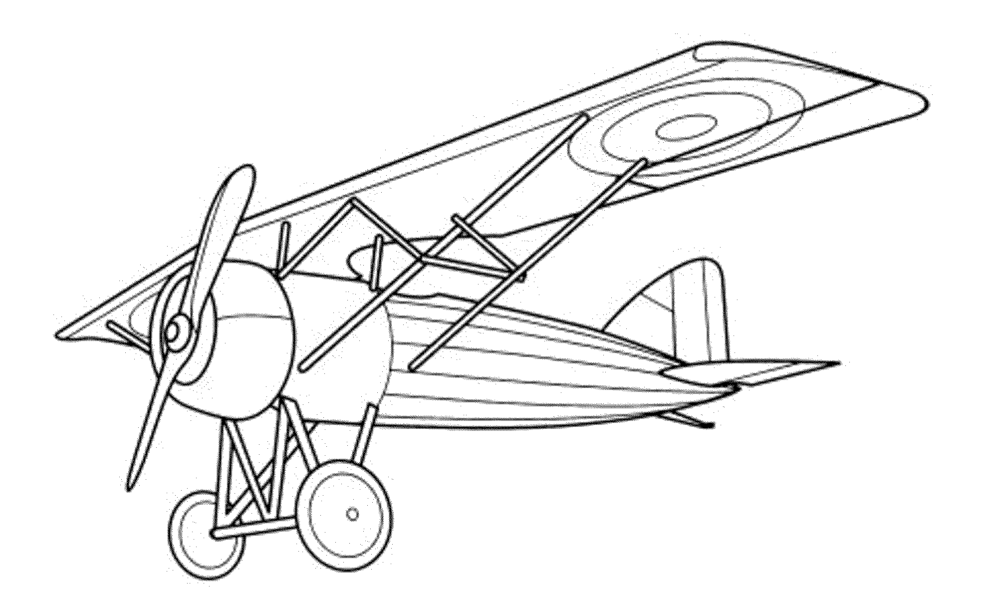 Wright Brothers Airplane Coloring Pages