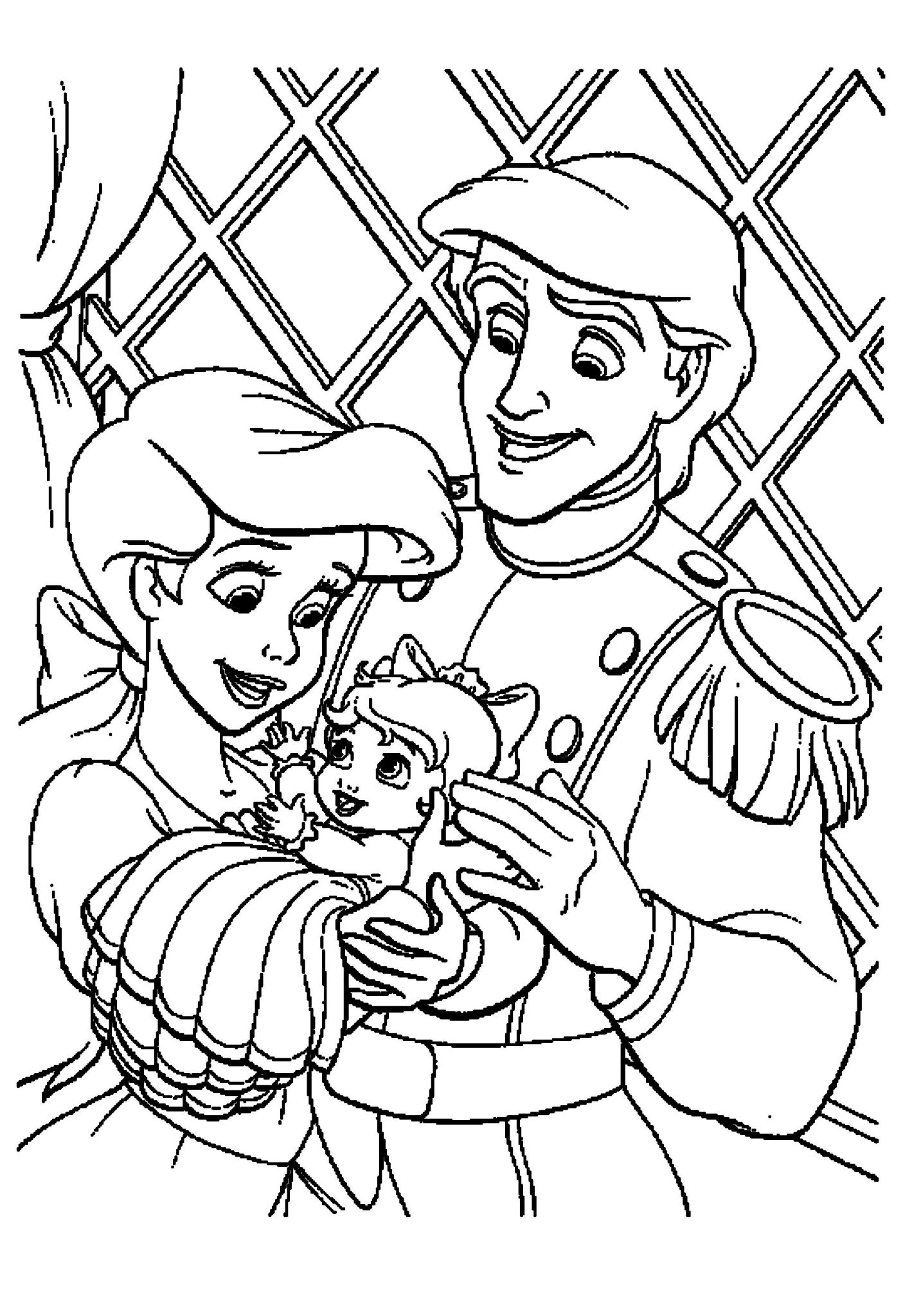 Ariel The Mermaid Coloring Pages