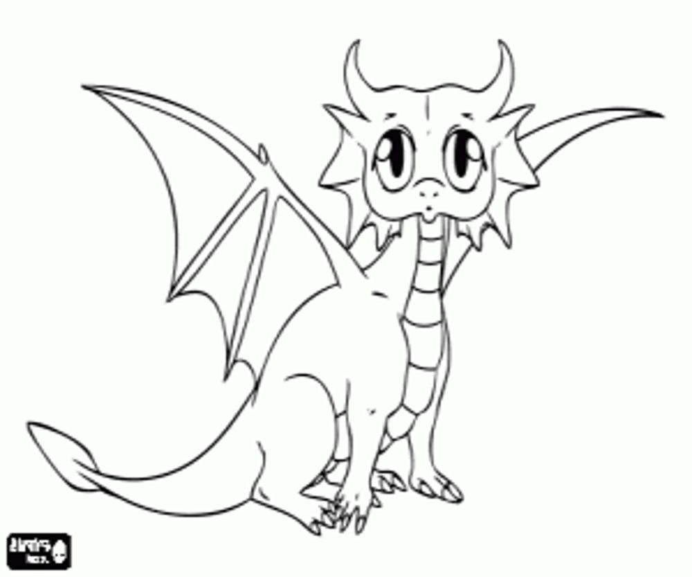 Baby Dragon Coloring Pages Bestappsforkids Com