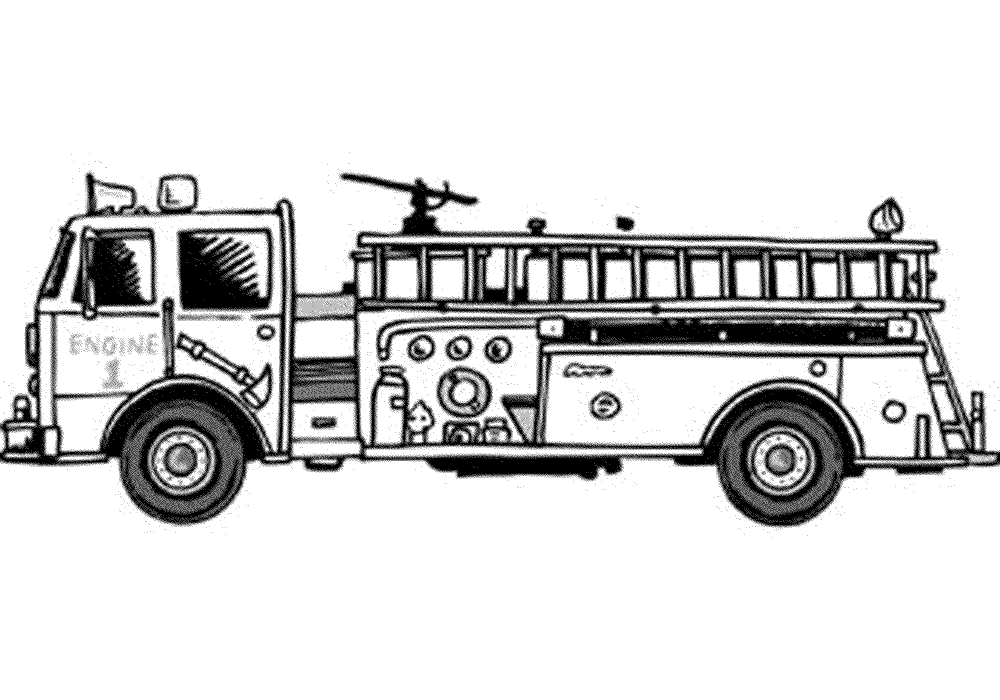 Big Fire Truck Coloring Page