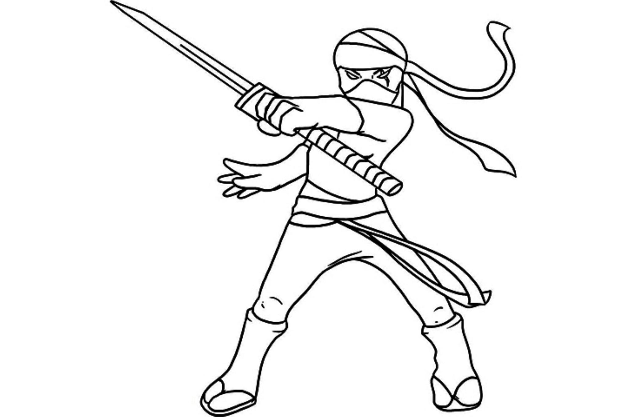 black ninja coloring pages