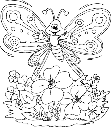 butterfly-and-flower-coloring-pages
