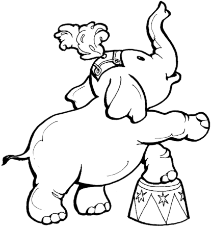coloring-page-elephant