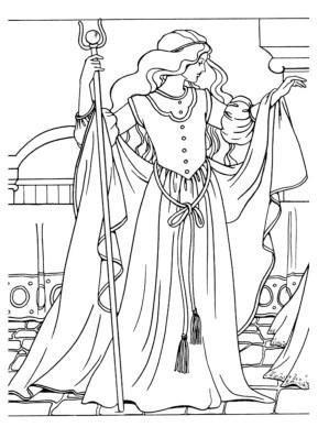 coloring-page-princess