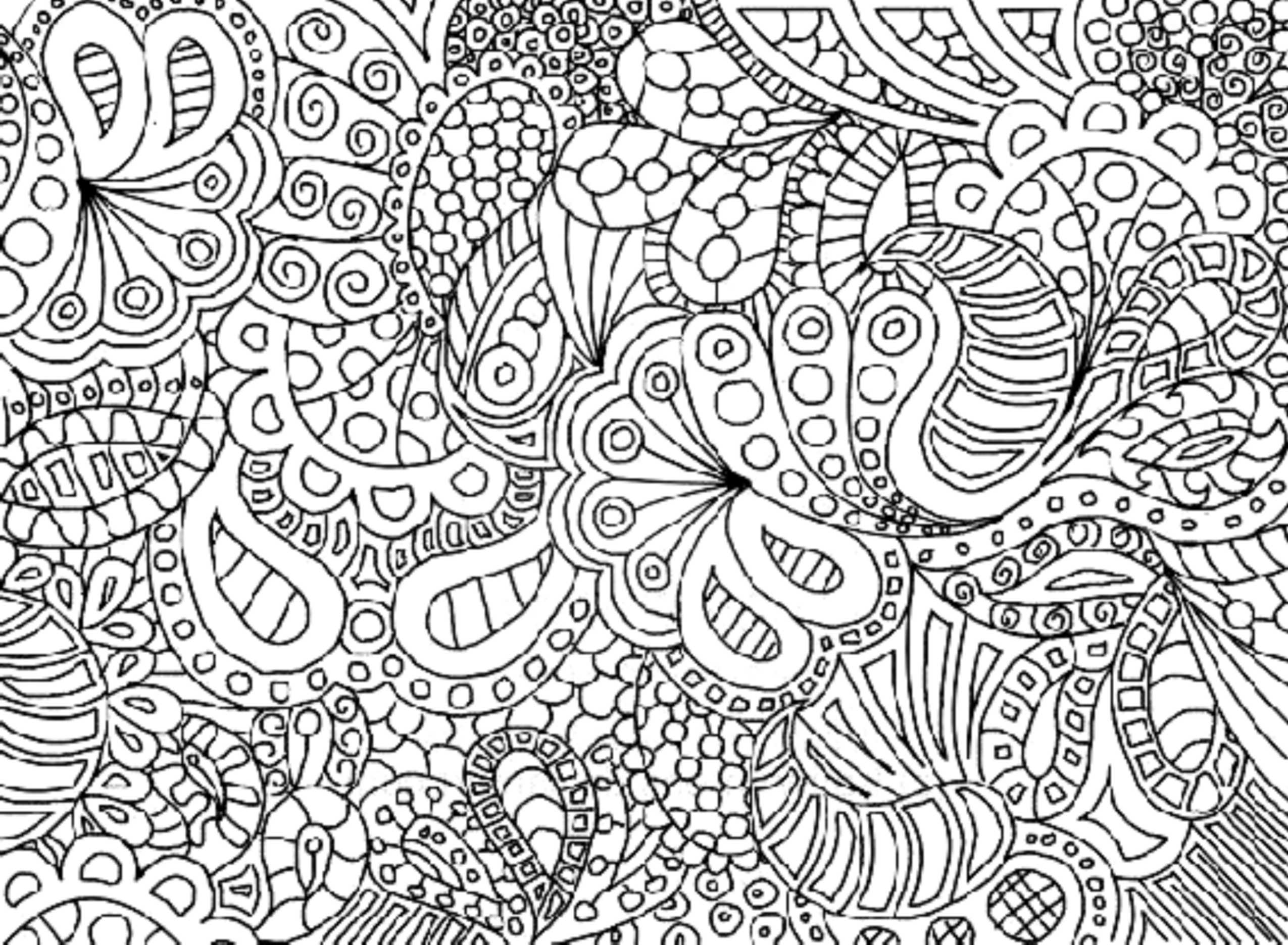 Print Download Complex Coloring Pages For Kids And Adults