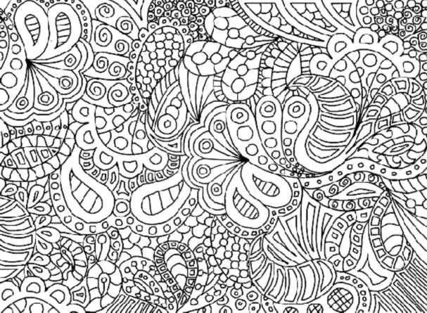 complicated coloring pages for download - photo#4
