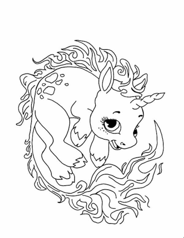 free coloring kids unicorn # 40