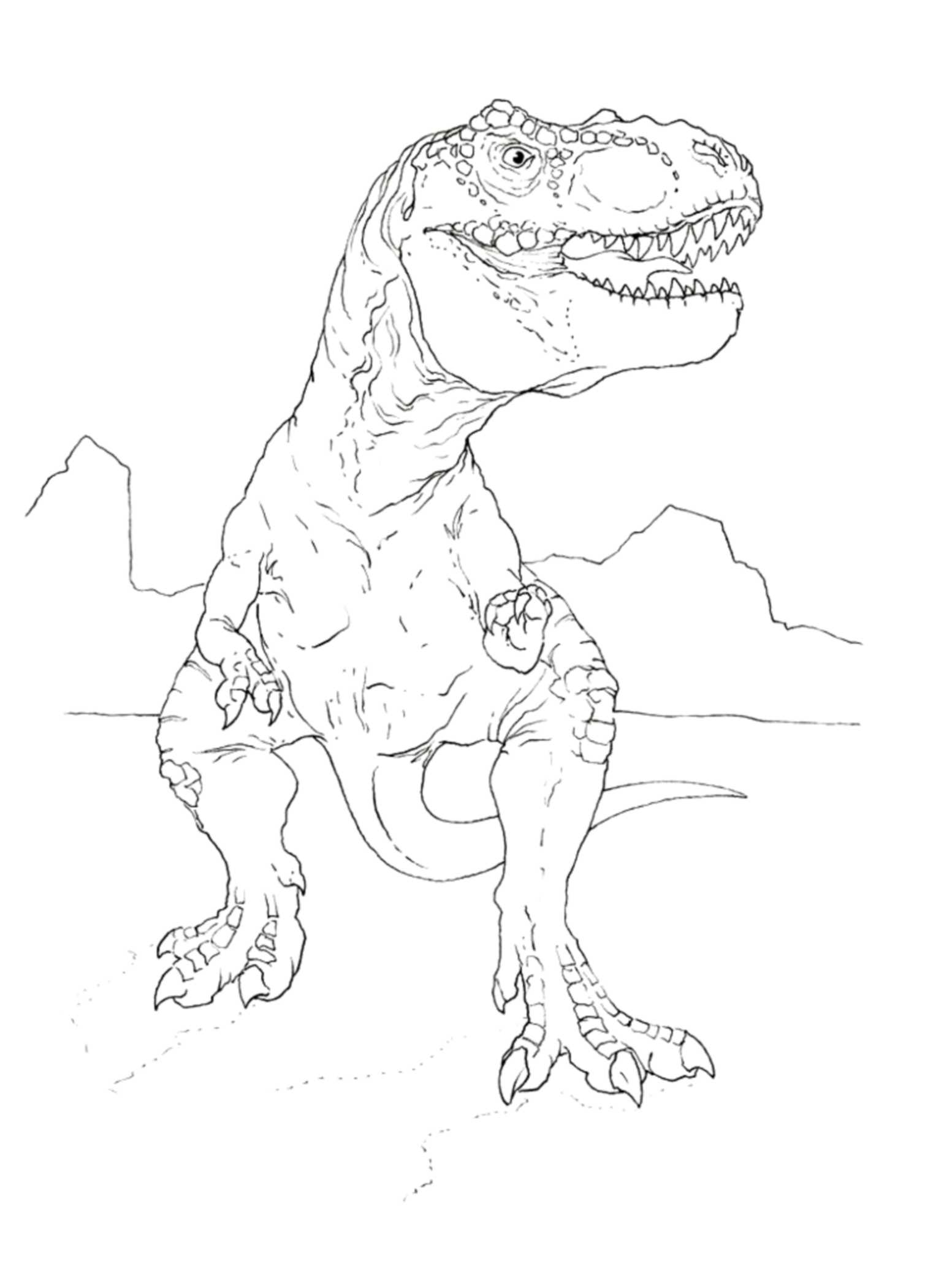 T Rex Coloring Page Coloring Pages