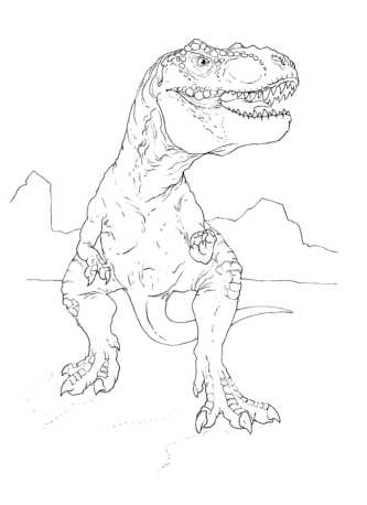 dinosaur-t-rex-coloring-pages