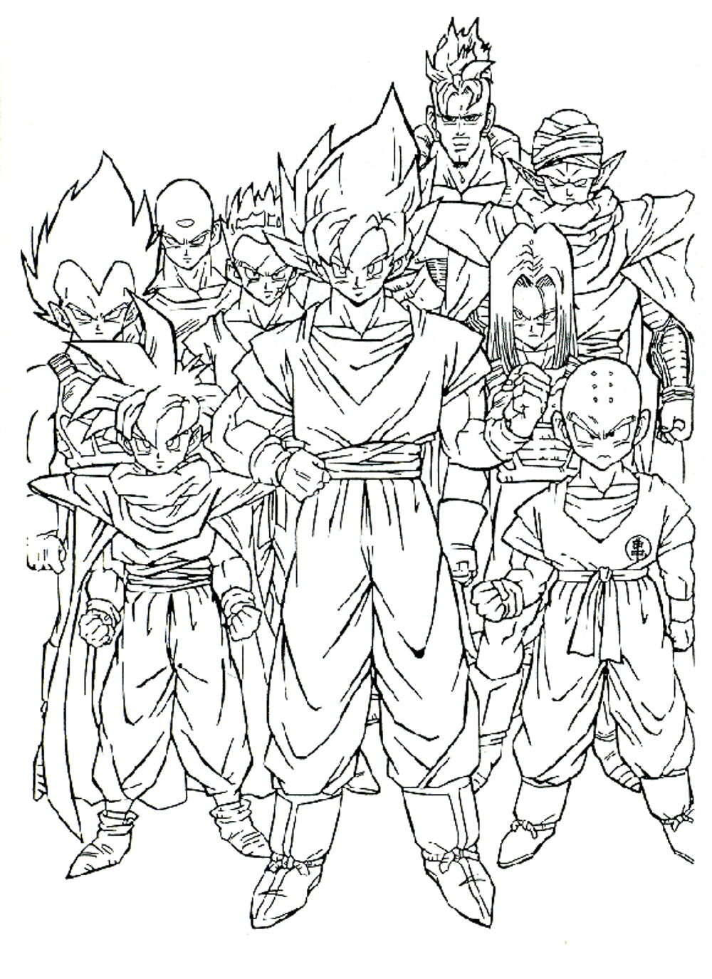 Dragon Ball Z Coloring Pages Printable Bestappsforkids