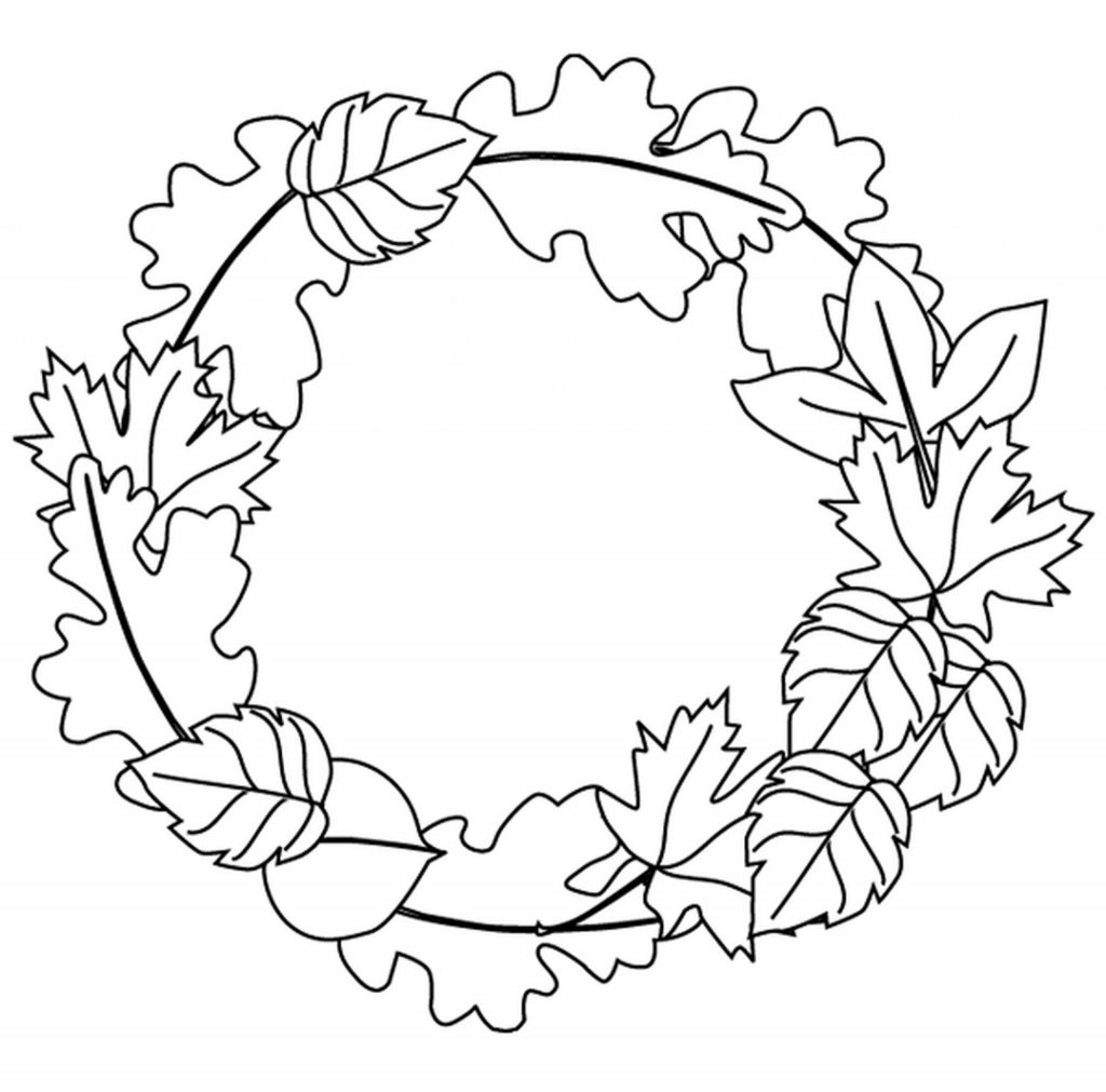 Easy Preschool Fall Leaves Coloring Pages