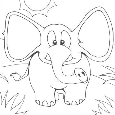 elephant-color-pages