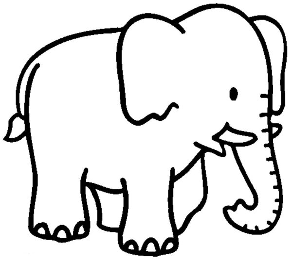 coloring pages elephant # 19
