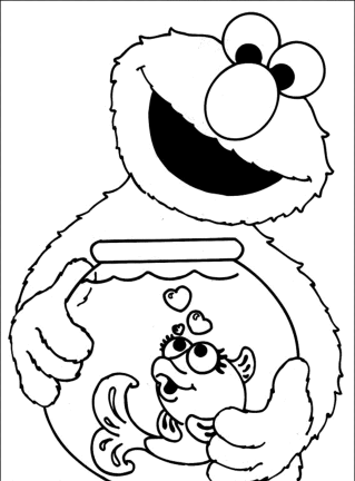 elmo-and-dorothy-coloring-pages