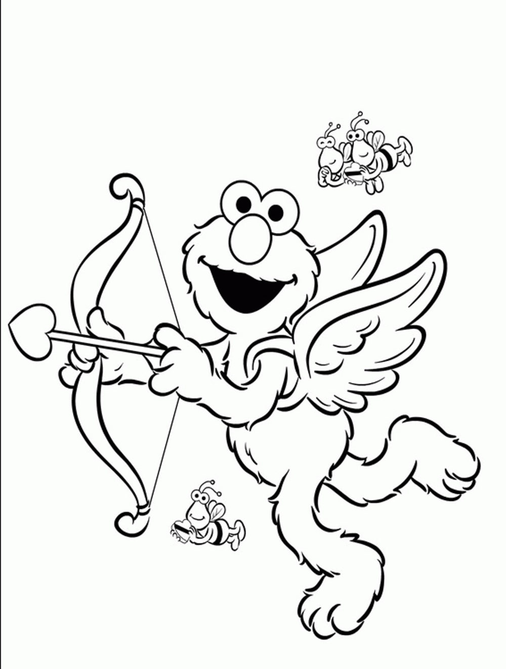 Elmo Valentines Day Coloring Pages