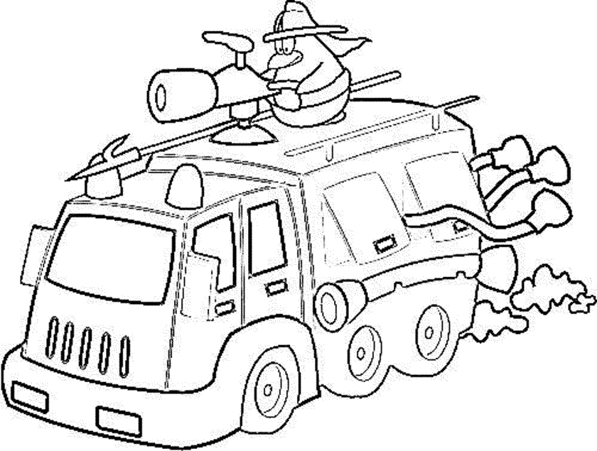 print & download  educational fire truck coloring pages