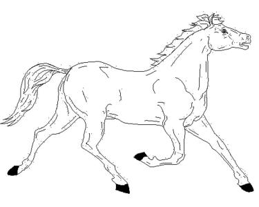 free-horse-coloring-pages