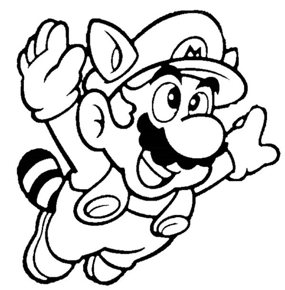 Print Download Mario Coloring Pages Themes