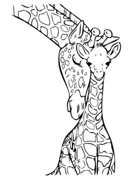 giraffe-coloring-pages