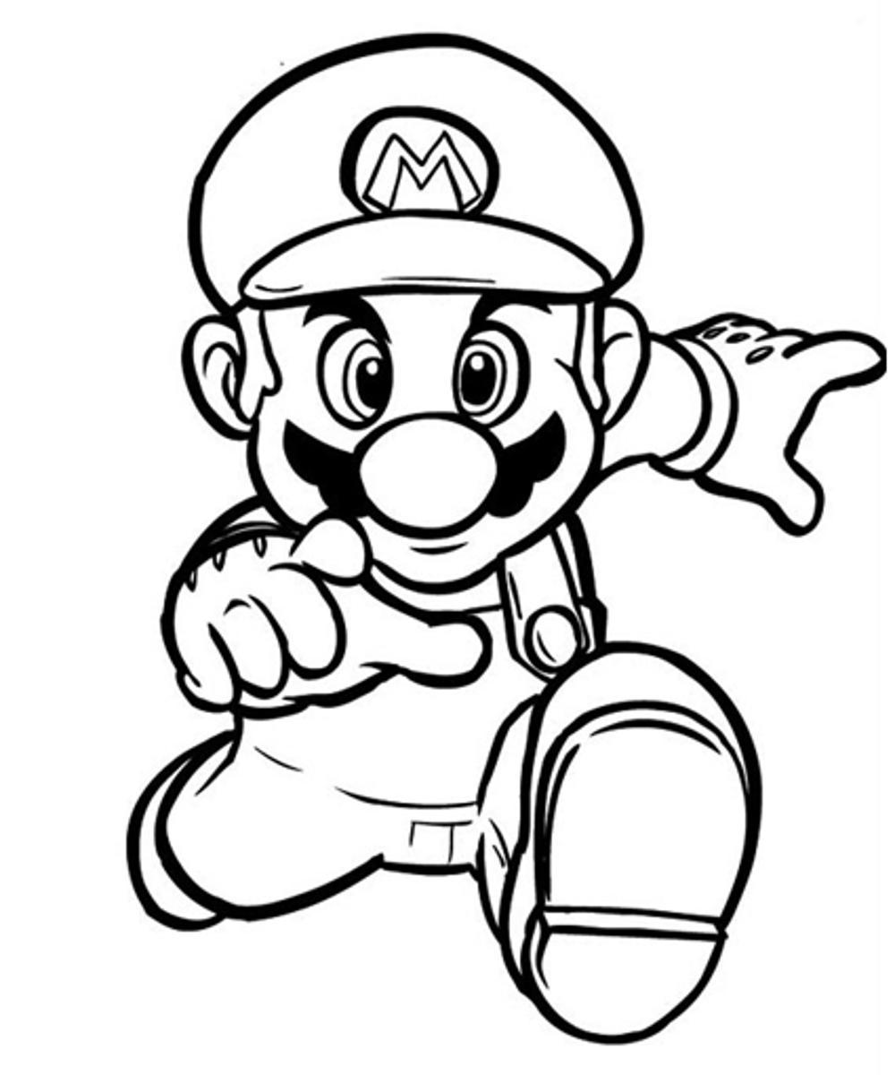 Mario coloring pages to print free