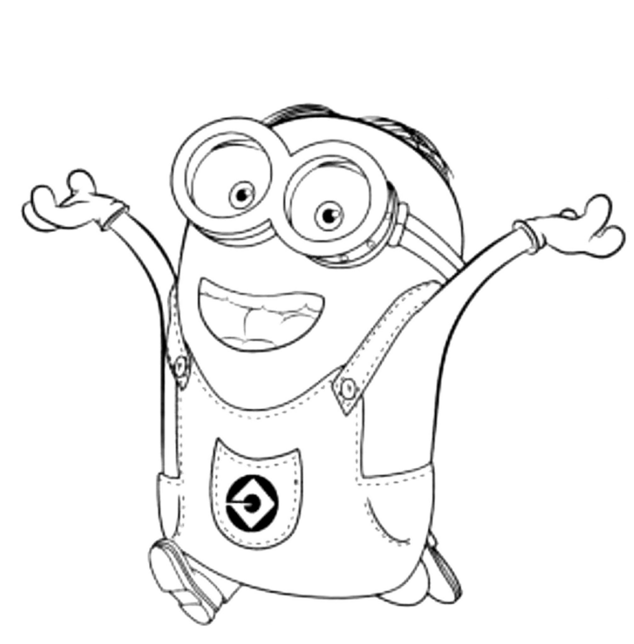 Print & Download - Minion Coloring Pages for Kids to Have Fun -