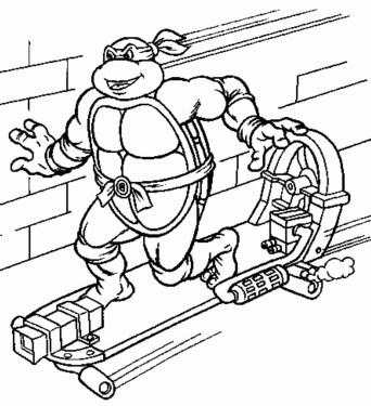 ninja-turtle-skateboard-coloring-pages
