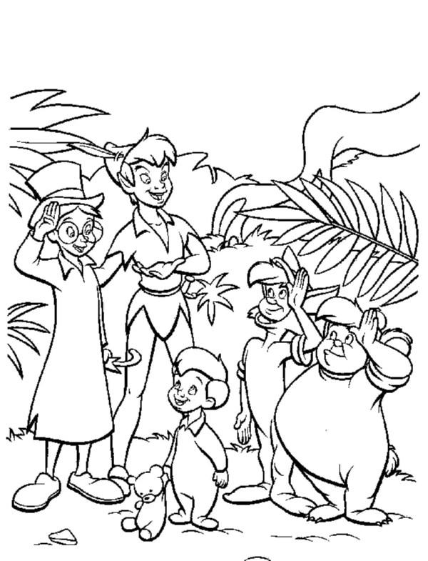 peter pan coloring page # 18